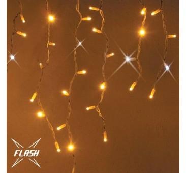 LED girlianda varvekliai 174 diodai 3 m H 0,9 m, FLASH, šiltai balta, IP67