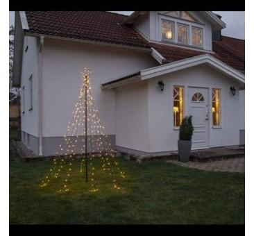 Lauko dekoracija - eglutė iš 420 LED lempučių, šiltai balta