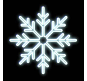 LED dekoracija SNAIGĖ 80 cm, šaltai balta