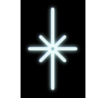 LED dekoracija ŽVAIGŽDĖ, 53x90cm šaltai balta
