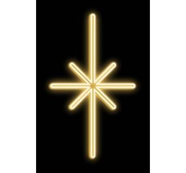 LED dekoracija ŽVAIGŽDĖ, 38x65cm šiltai balta