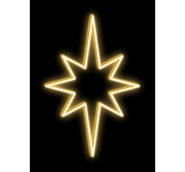 LED šviečianti ŽVAIGŽDĖ, 80x120cm šiltai balta