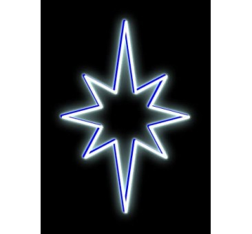 LED šviečianti ŽVAIGŽDĖ, 35x50cm šaltai balta