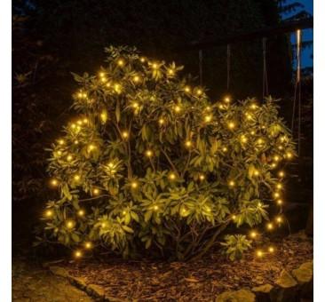 LED šviesos tinklas 2x1,5m 90 diodų, šiltai balta