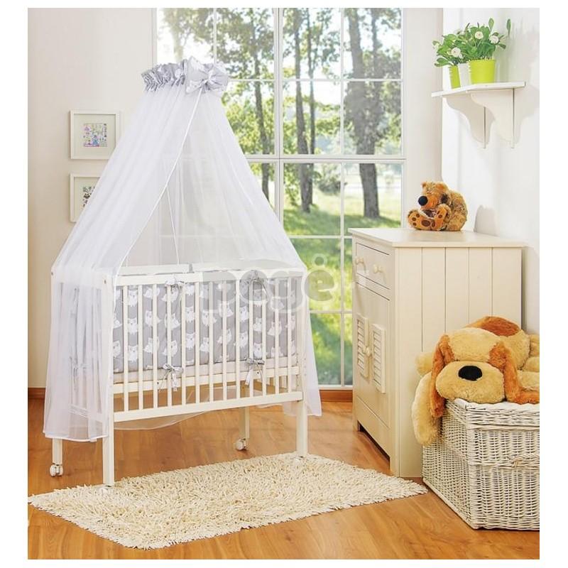 Mini vaikiška lovytė su patalyne ir baldakimu