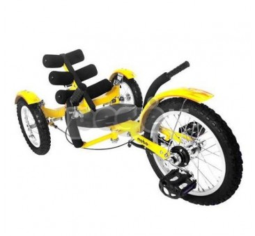 Velomobilis vaikams MOBITO geltonas