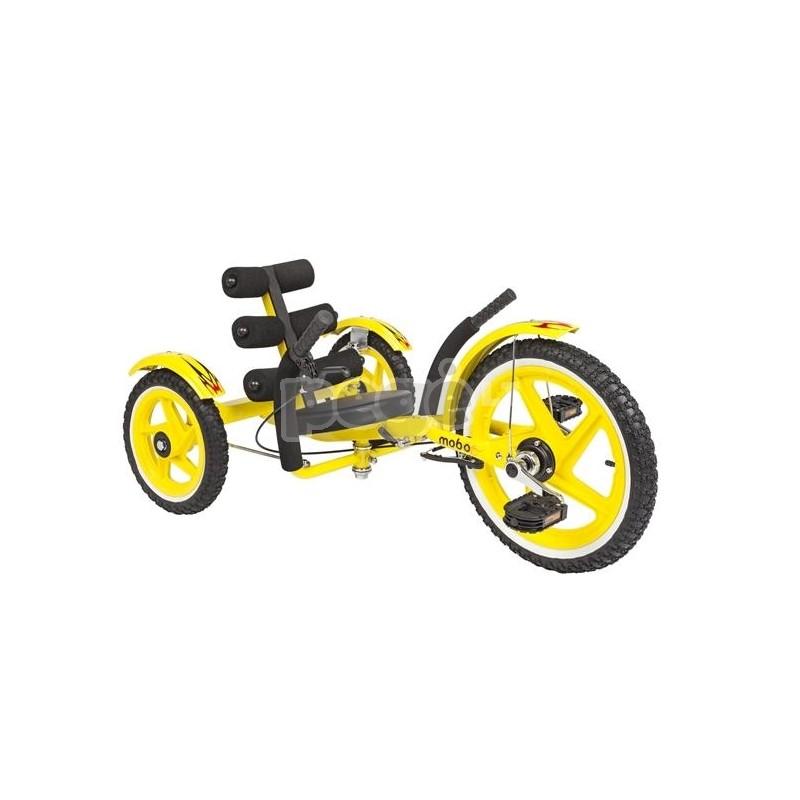 Velomobilis vaikams MOBITO SPORT geltonas