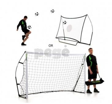 Futbolo vartai QUICKPLAY 2.4 x 1.5 M + batutas