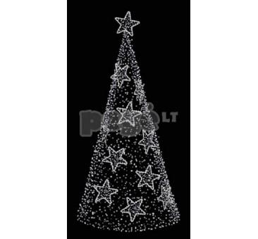 3D LED dekoracija eglutė, 600x180cm, 0919