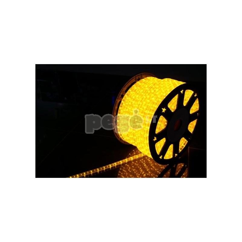 šviečiantis kabelis su lemputėmis karpomas kas 1 metrą