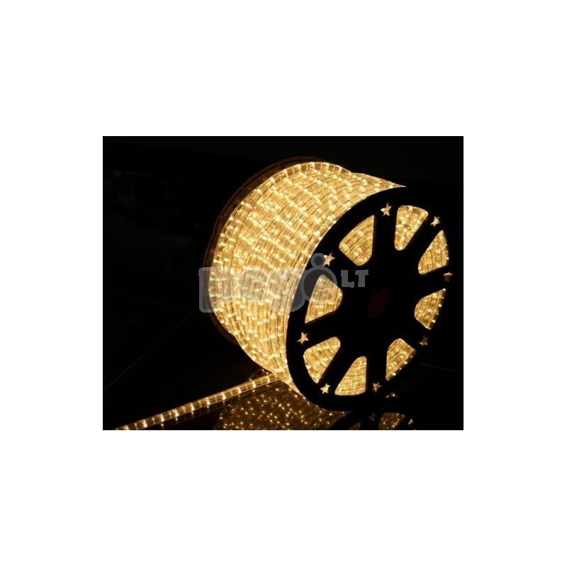Lankstus šviečiantis kabelis su lemputėmis, 100 m, karp. kas 1 m