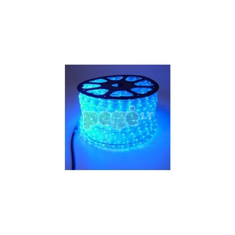 Lankstus šviečiantis LED kabelis, horizontalūs diodai 100 m karp. kas 1 m