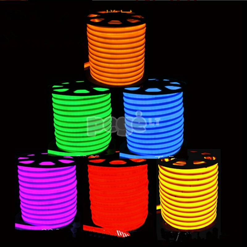 NEON  LED šviečianti juosta 50 m