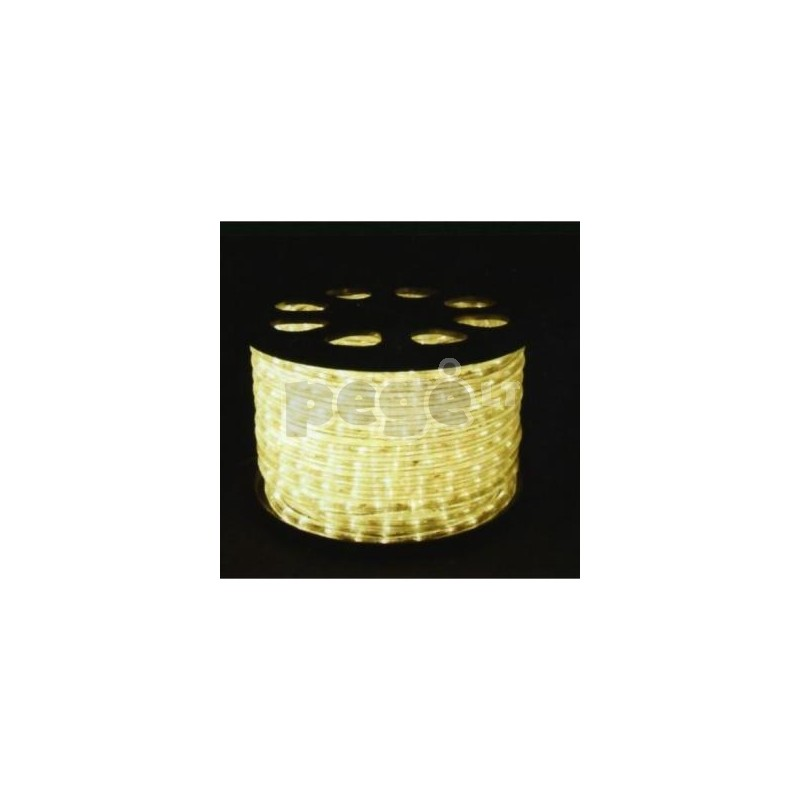 LED šviečiantis kabelis karpomas kas 1 metrą, diodai horizontaliai