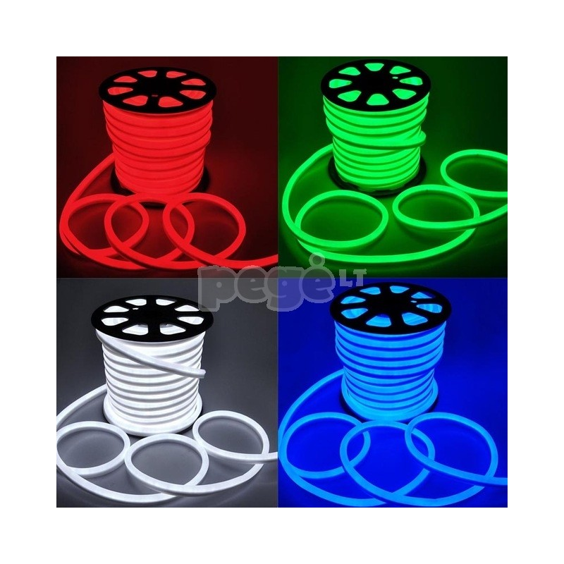 NEON LED šviečianti juosta, karpoma kas 0,9-1,2 m