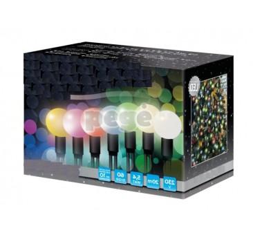 Universalios LED kamuolinės lemputės su programomis 60 diodų 20 m