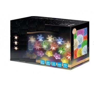 Vidaus LED lemputės su žvaigždučių ornamentu 100 diodų 10 m