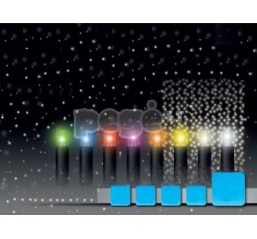 Universali Kalėdinė girlianda LED užuolaida blyksintys diodai 2,5 x 6 m, 720