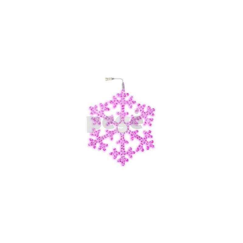 LED šviečianti snaigė 75 cm rožinė 360 LED