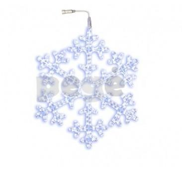 LED šviečianti snaigė 75 cm šaltai balta 360 LED