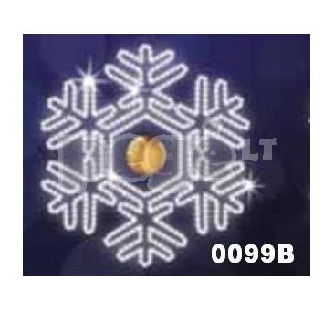 """Kalėdinė LED dekoracija """"Snaigė""""300 cm"""