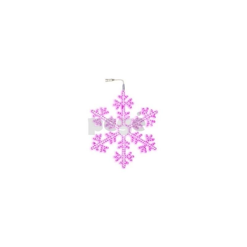 LED šviečianti snaigė 100 cm rožinė 504 LED