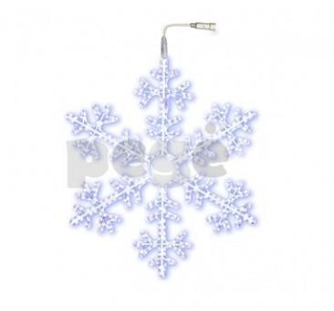 LED šviečianti snaigė 100 cm šaltai balta 504 LED