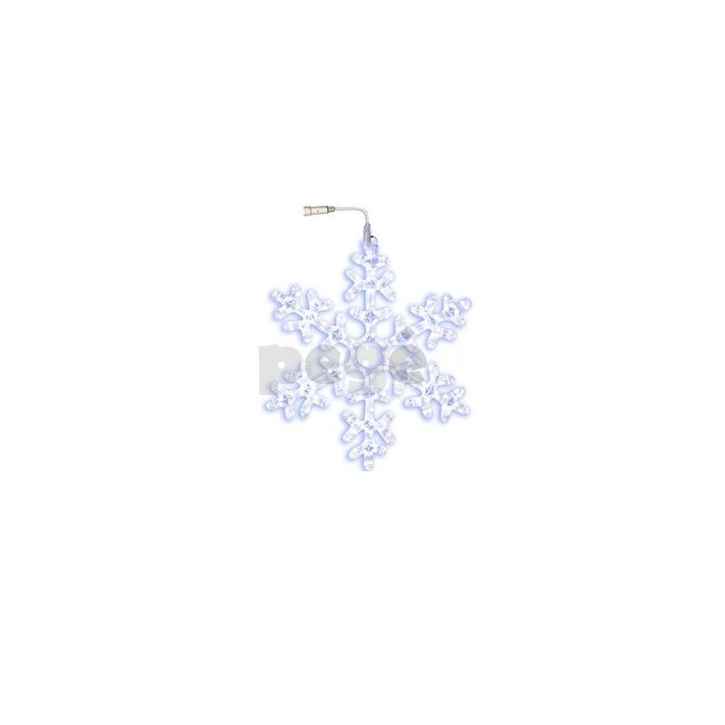 LED šviečianti snaigė 50 cm šaltai balta 216 LED