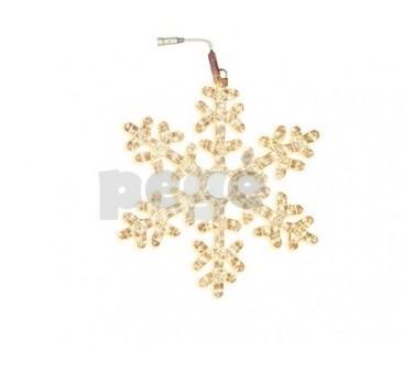LED šviečianti snaigė 50 cm Siltai balta 216 LED