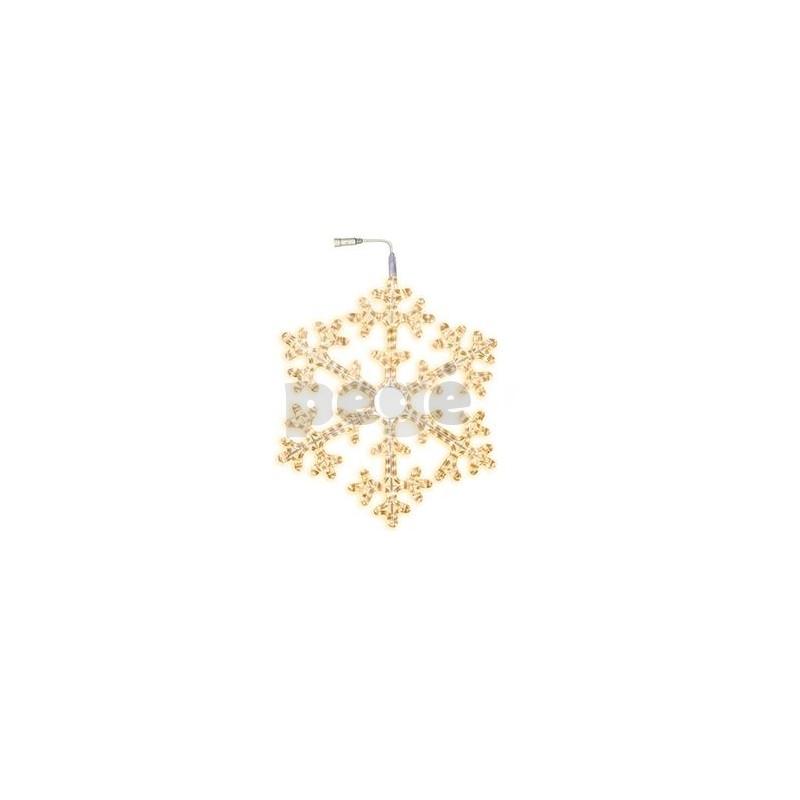 LED šviečianti snaigė 75 cm šiltai balta 360 LED