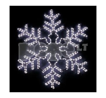 LED šviečianti snaigė 90 x 78 cm