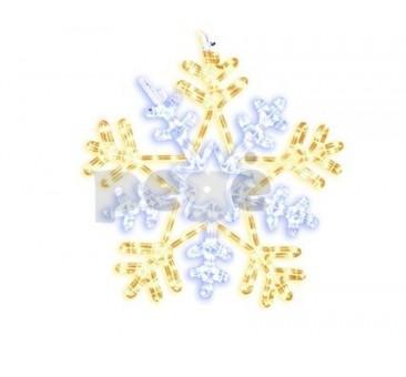 LED šviečianti snaigė 50 cm 252 LED šilt. balta/balta
