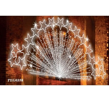2D dekoracija žvaigždynas 0358, 150 x 600 cm