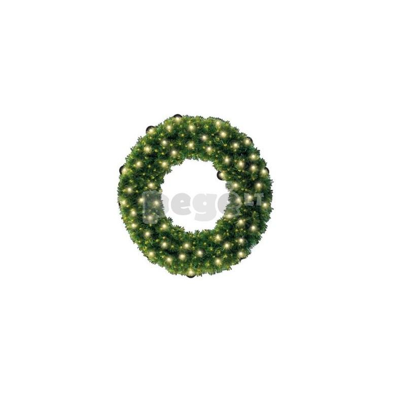 Kalėdinis vainikas RIMA su dekoracijomis, 100 cm