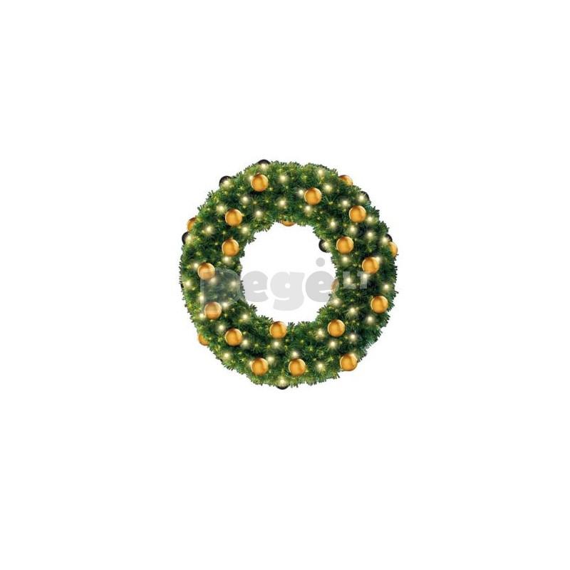 Kalėdinis vainikas MAIRA su dekoracijomis, 100 cm
