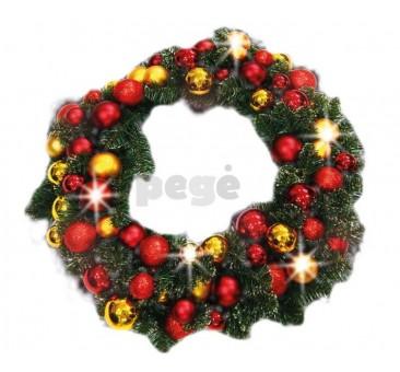 Kalėdinis vainikas ANA su dekoracijomis, 60 cm