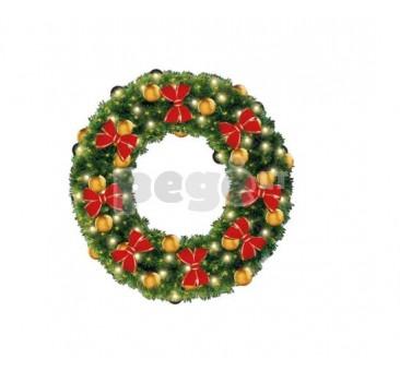 Kalėdinis vainikas SIMONA su dekoracijomis, 100 cm
