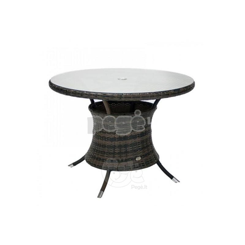 Lauko stalas VIKE tamsiai rudas