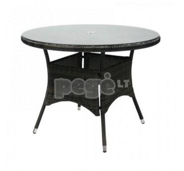 Lauko stalas NIKA tamsiai rudas