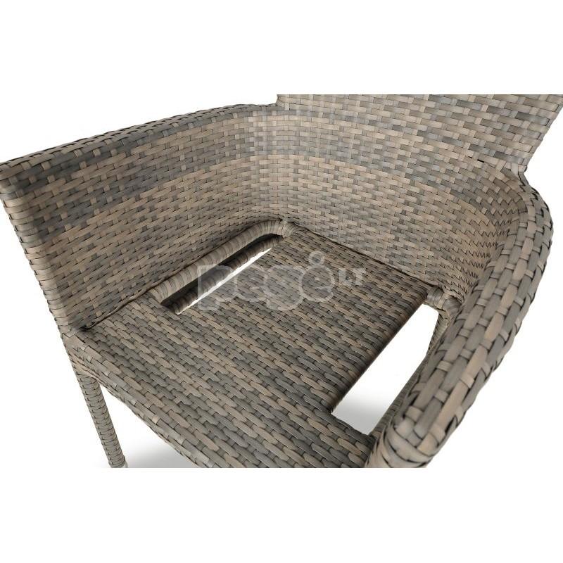 Pinta technoratano kėdė MERIDA pilka