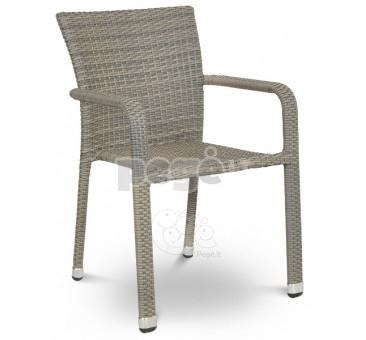 Pinta technoratano kėdė NEGROSO pilka