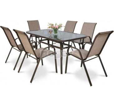 Lauko baldų komplektas BOLONA rudas