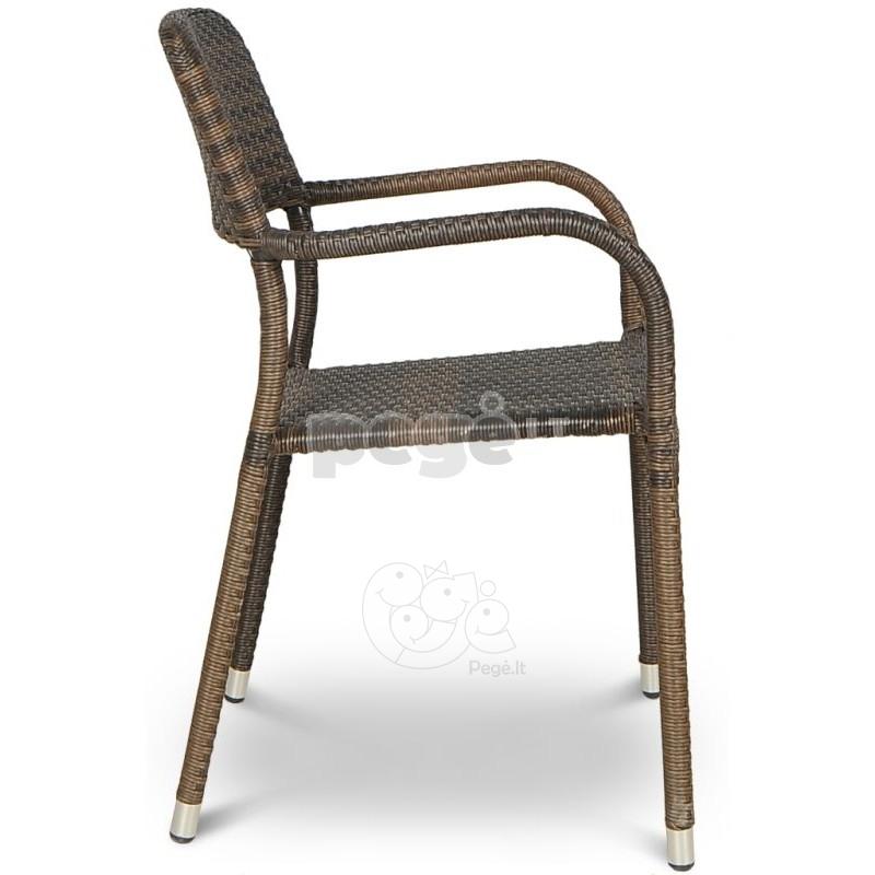 Pinta technoratano kėdė OPAL MODERN BROWN