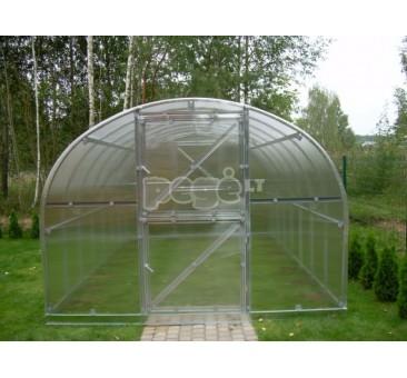 Arkinis šiltnamis Klasika 36 m2 danga 4 mm
