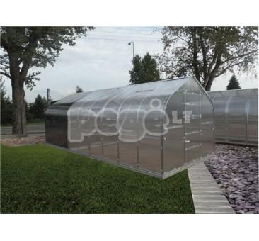STANDART  Klasika šiltnamis 15 m2 danga 4 mm, 3 stoglangiai