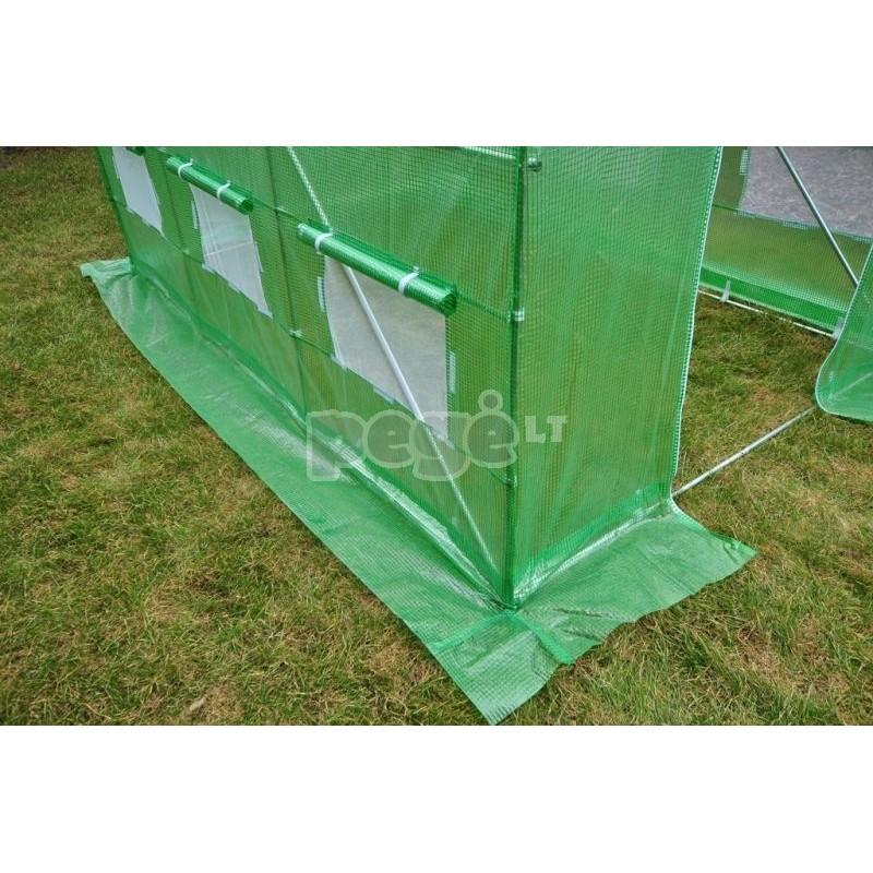 Plėvelinis šiltnamis 6m2 žalias