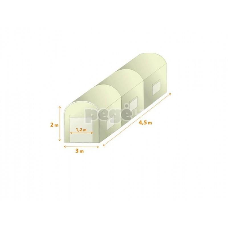 Plėvelinis šiltnamis 13,5 m2 baltas