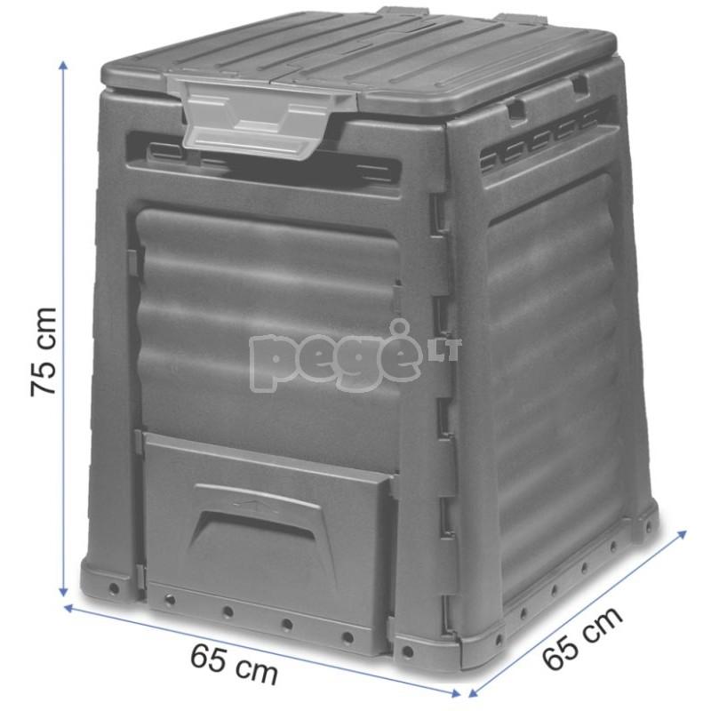 Komposto dėžė 320L black